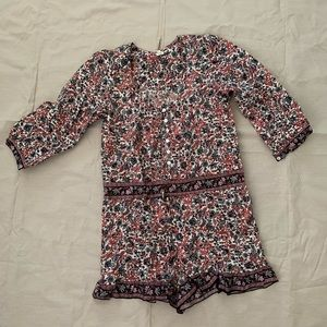 Pants - Floral short romper